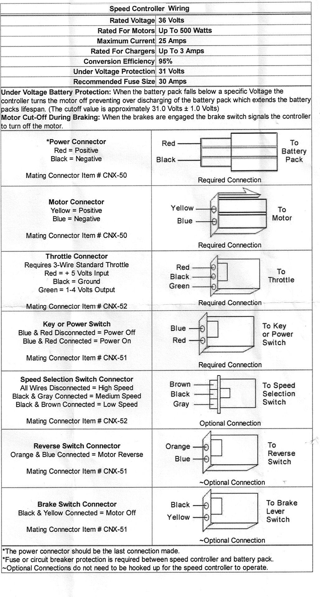 E Bike Controller Wiring Diagram