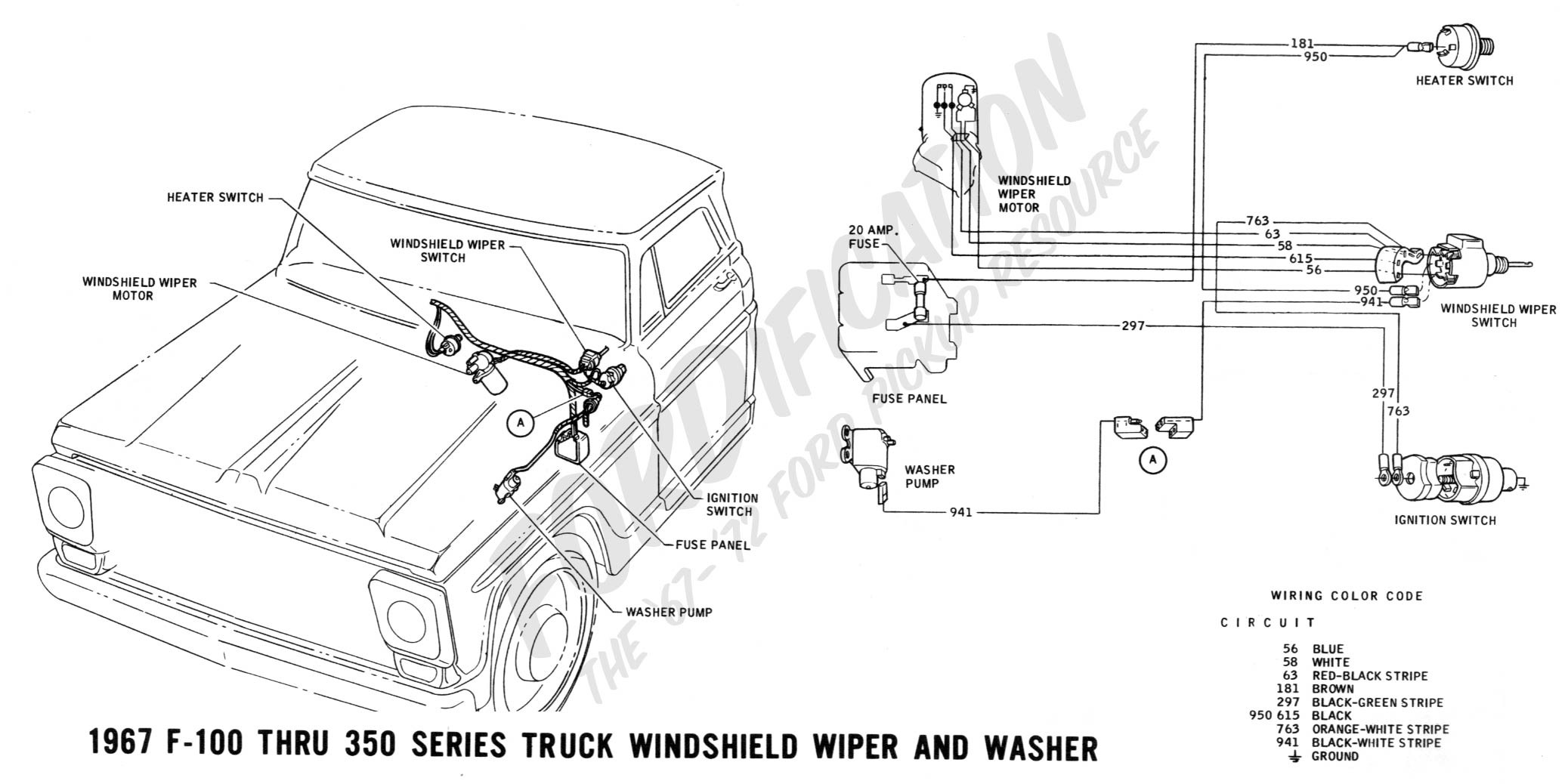 Chevy C10 Wiper Motor Wiring Diagram Wiring Diagram