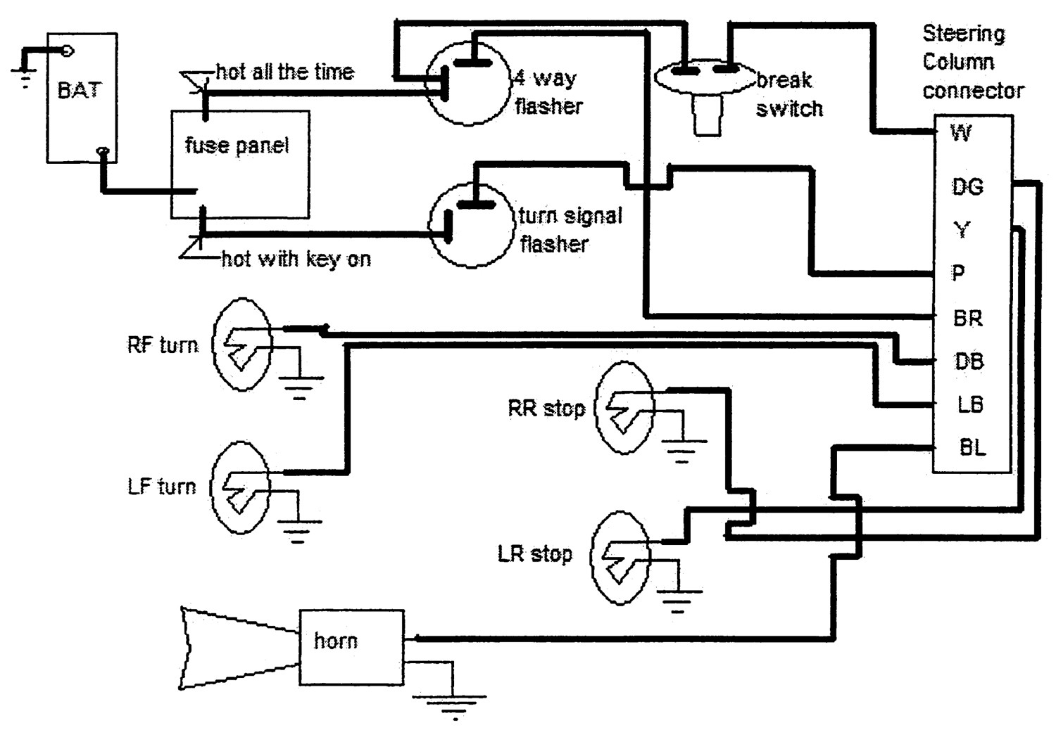 Wrg Chevy Steering Column Wiring Diagram For