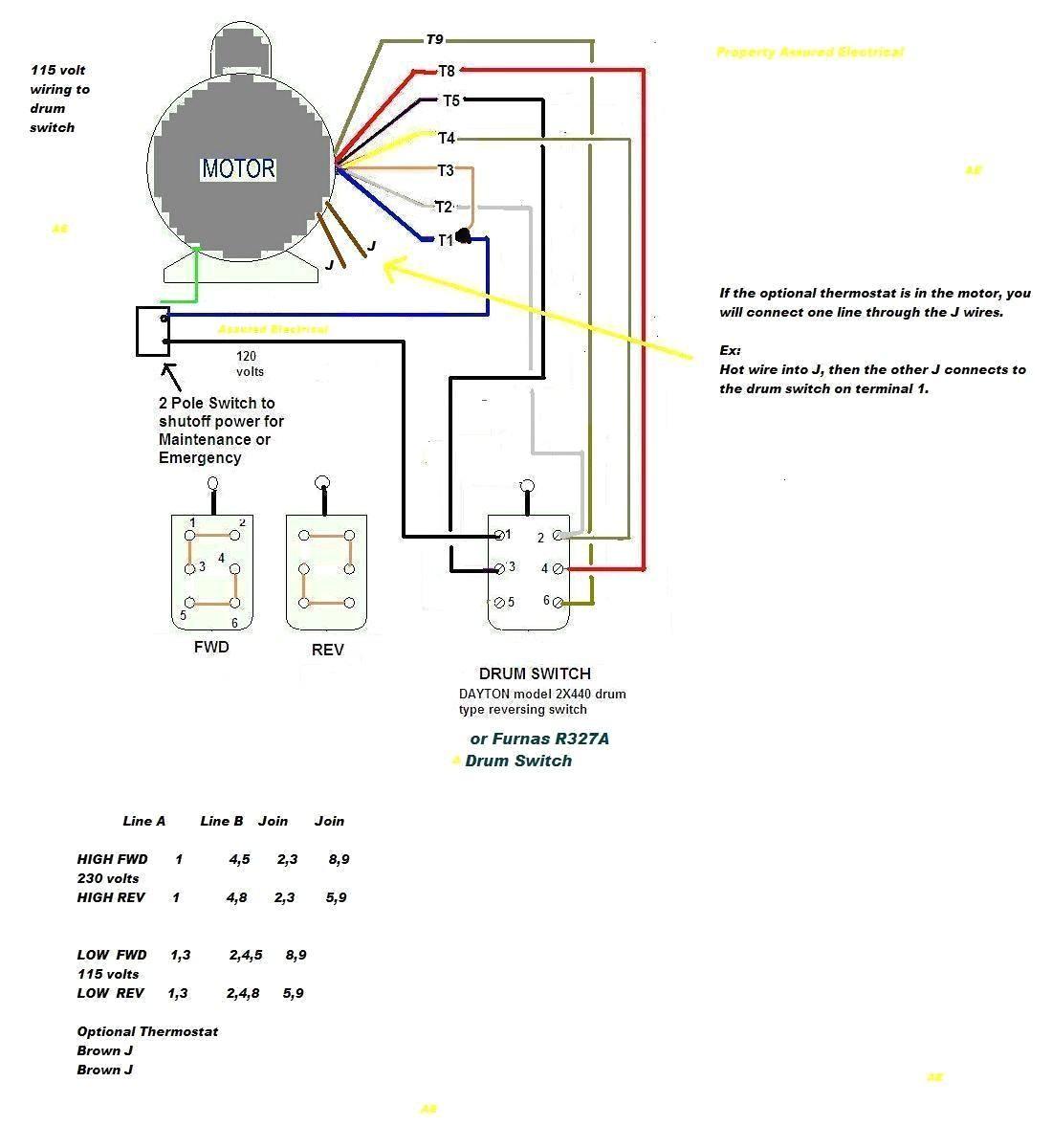 dayton electric motor capacitor wiring diagram