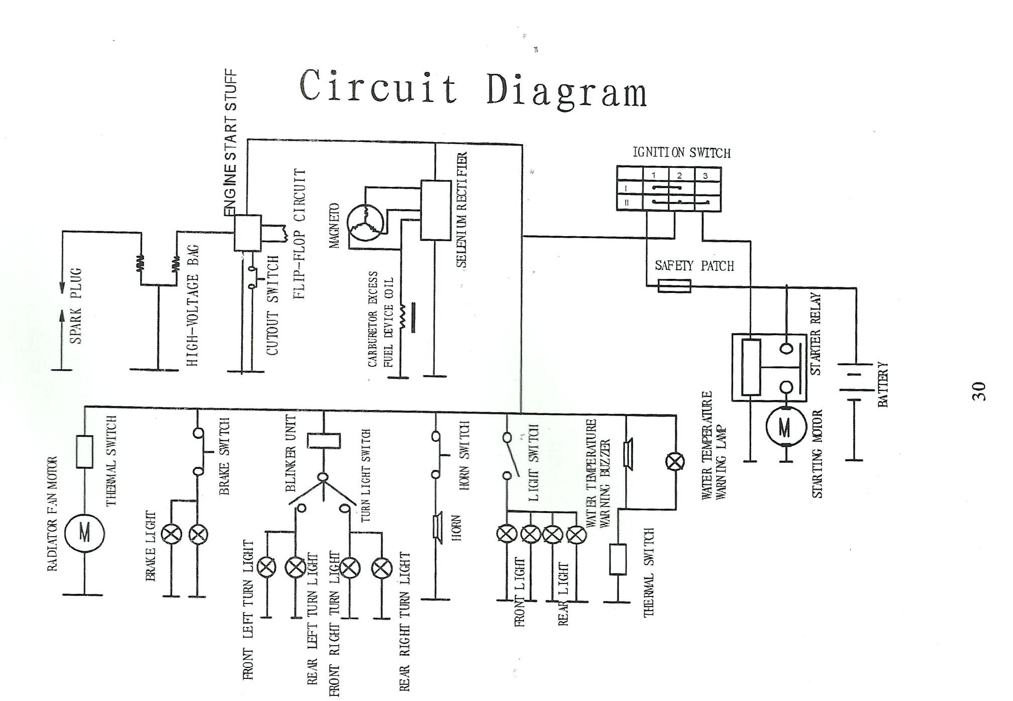Loncin 50cc Quad Wiring Diagram