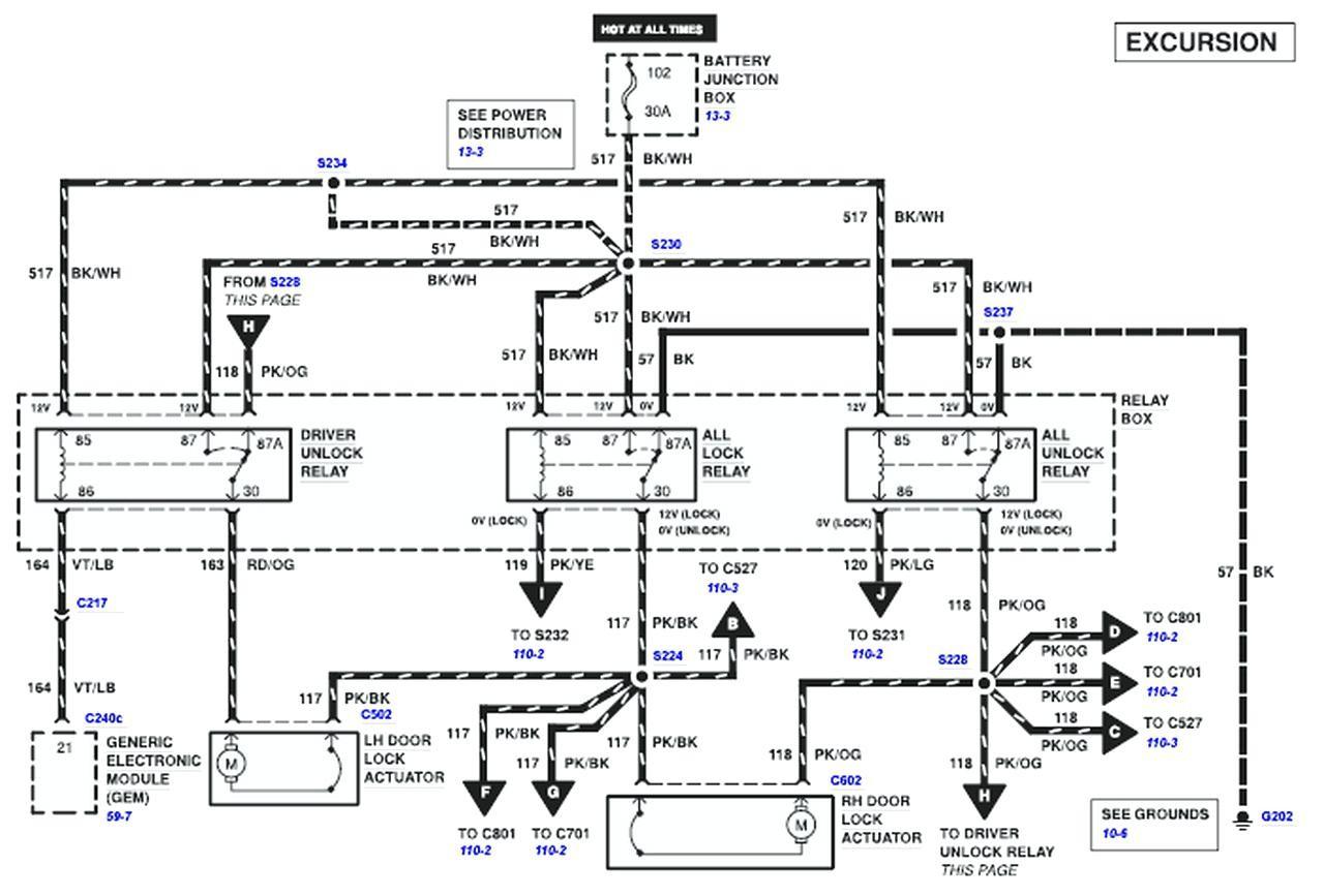 Power Door Lock Wiring Diagram