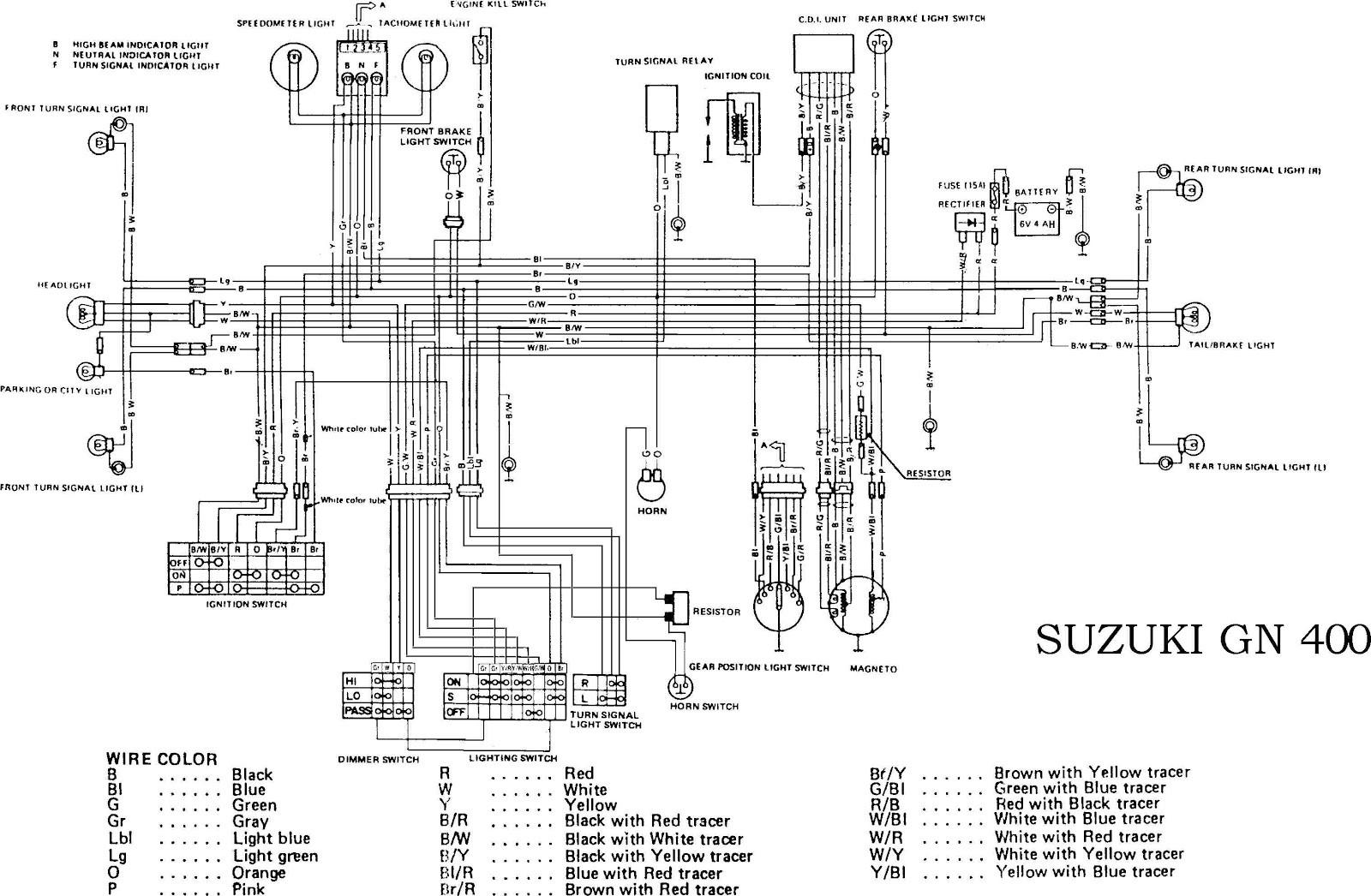 Suzuki Motorcycle Wiring Diagram