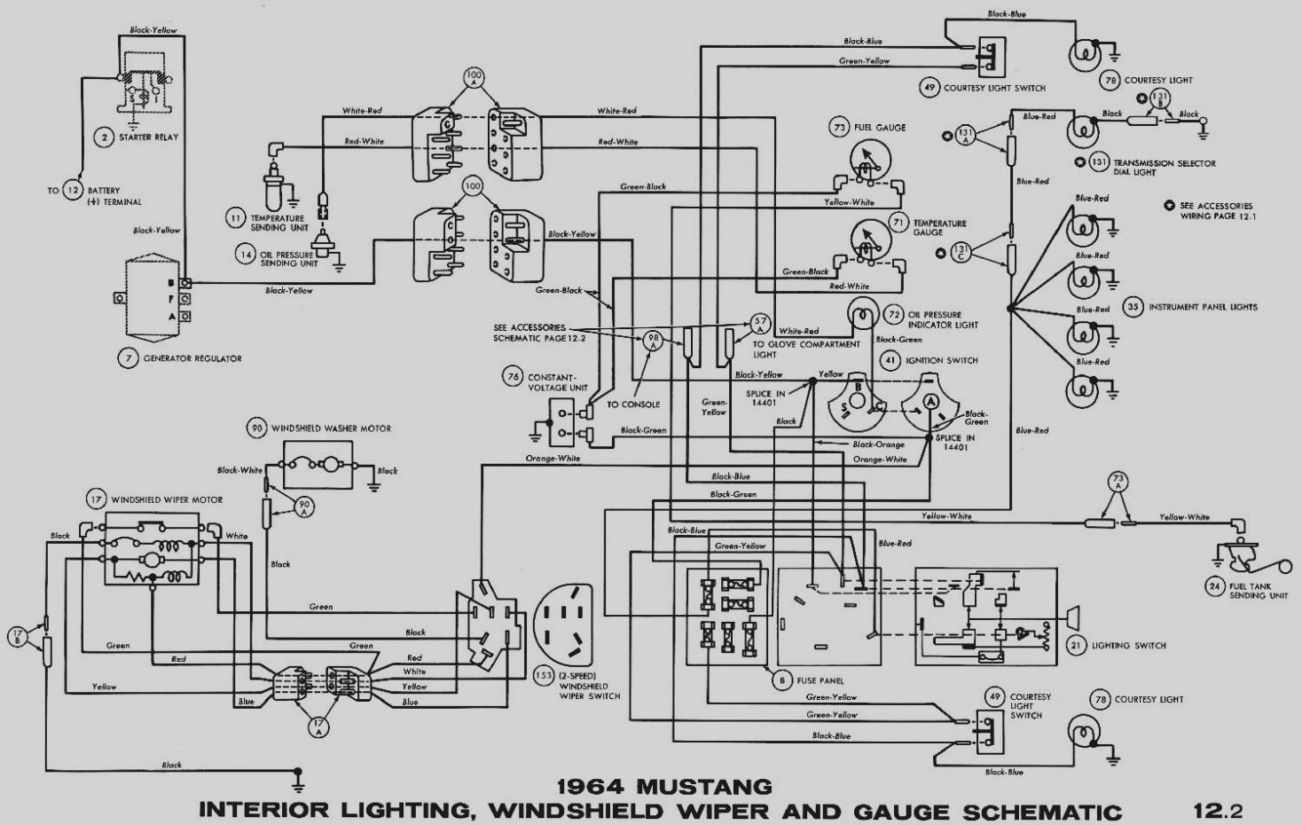 66 Mustang Wiper Switch Wiring Diagram