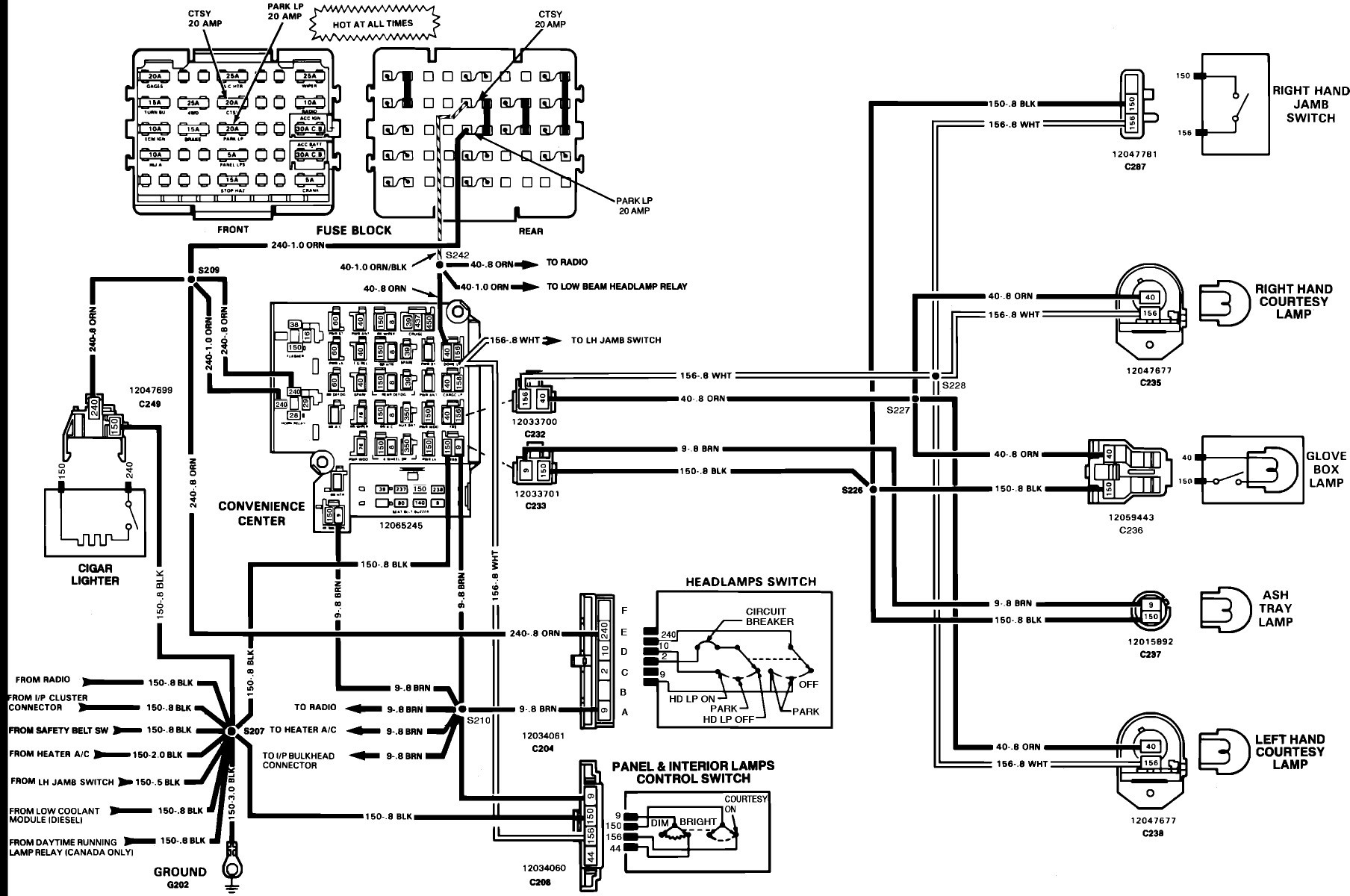 Chevy Steering Column Wiring Diagrams