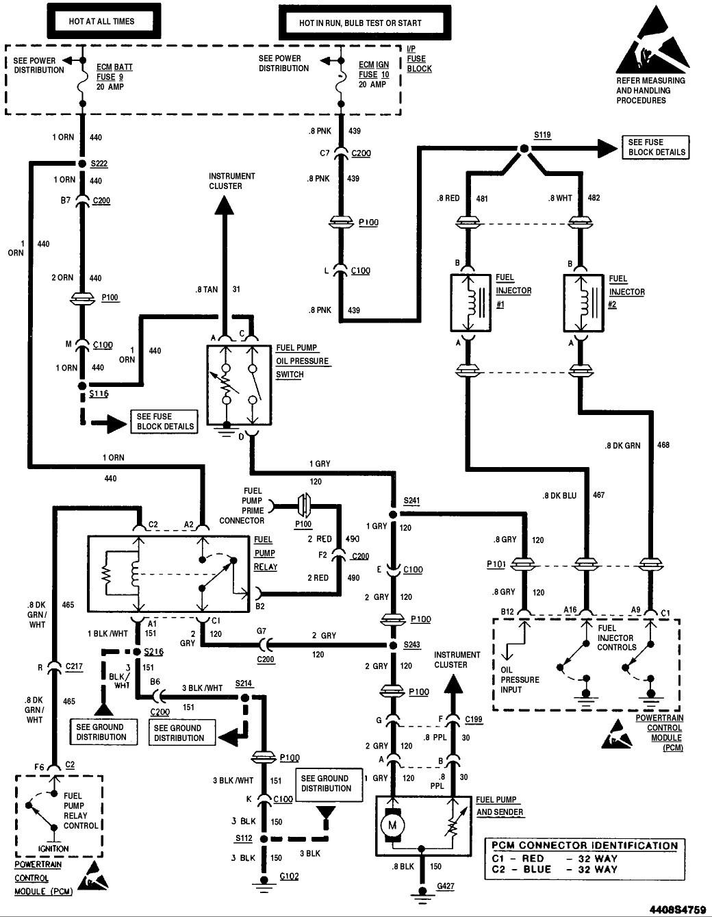 Wiring Diagram S10 Fuel Pump Wiring Diagram