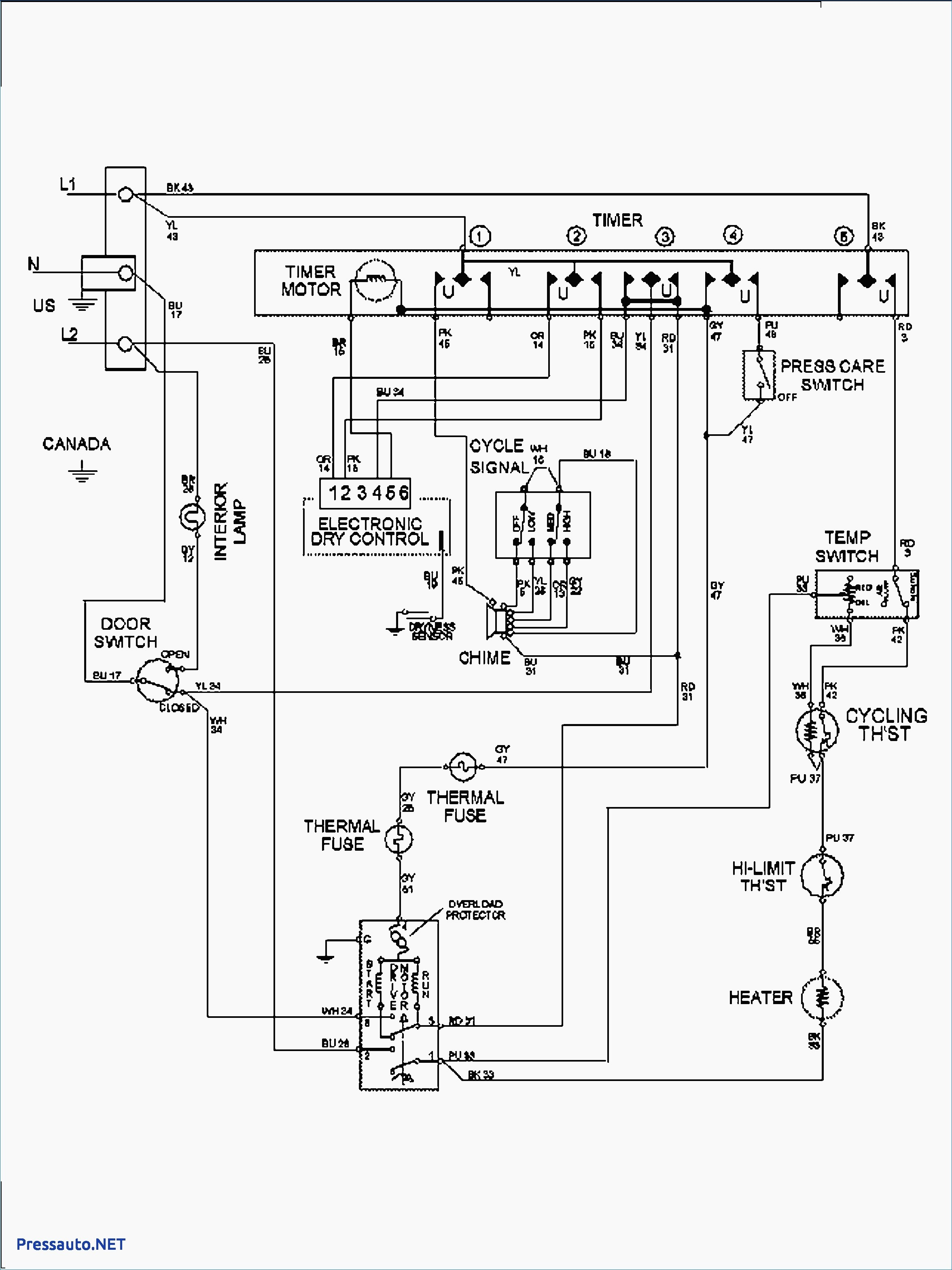 Roper Clothes Dryer Wiring Diagram