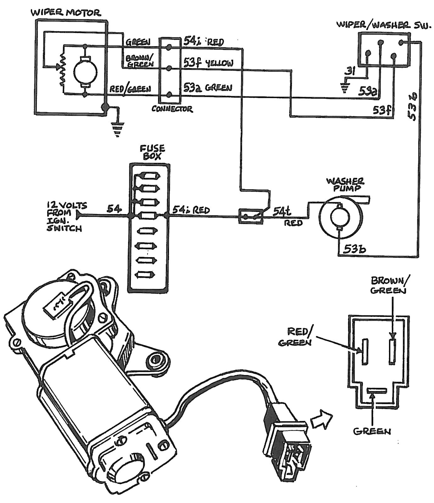 Windshield wiper motor schematic symbol wire center