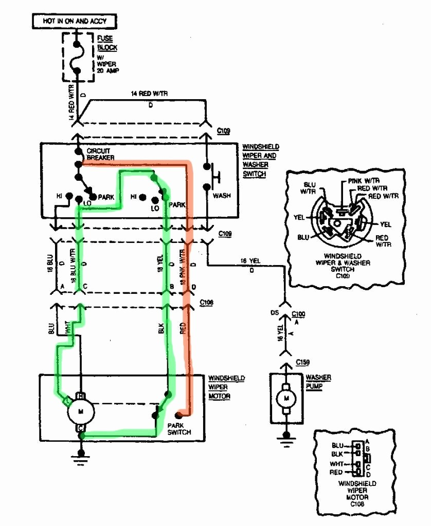 Wiper motor wiring diagram chevrolet new wiring diagram image