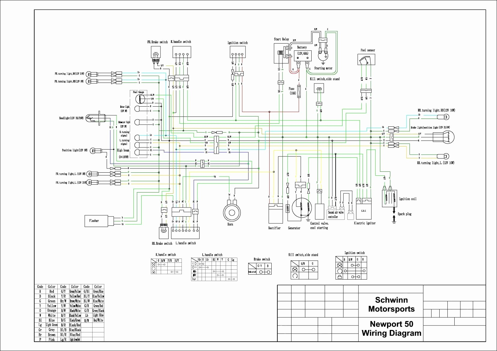 E100 Scooter Wire Diagram Of