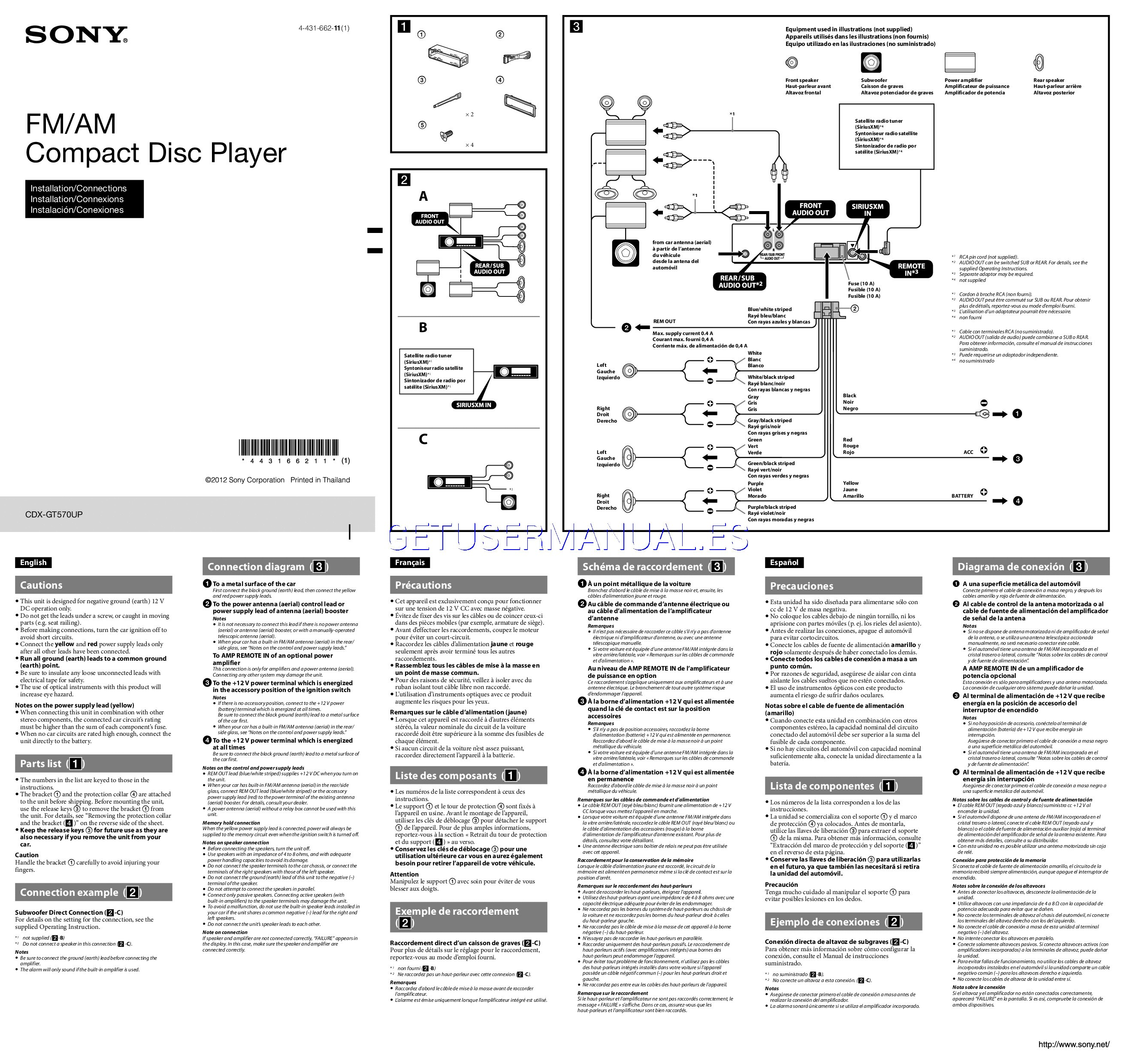 Sony Reciever Wiring Diagram