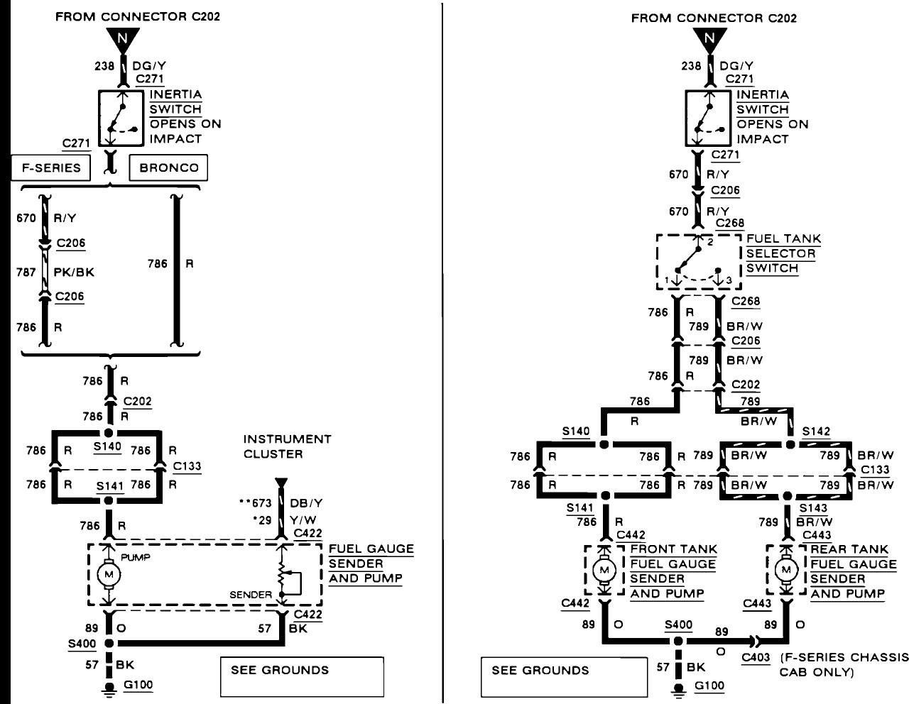 Ford Fuel Gauge Wiring Schematic