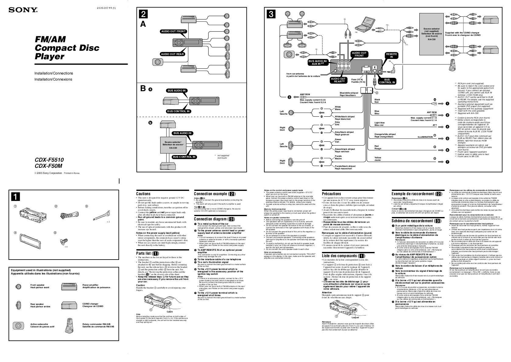 Sony Cdx Gt66upw Wiring Diagram New