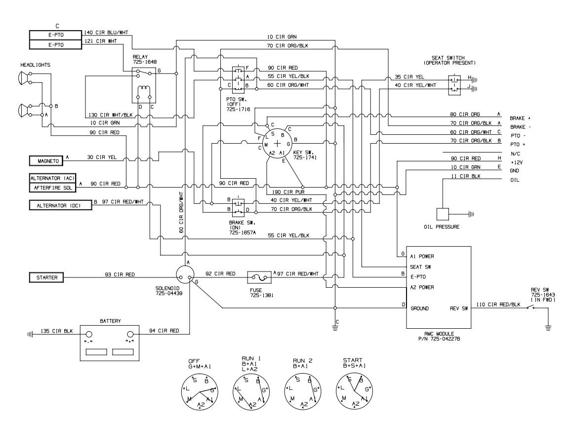 John Deere Ignition Switch Wiring Schematics 4 X 2