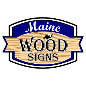 Maine Wood Signs