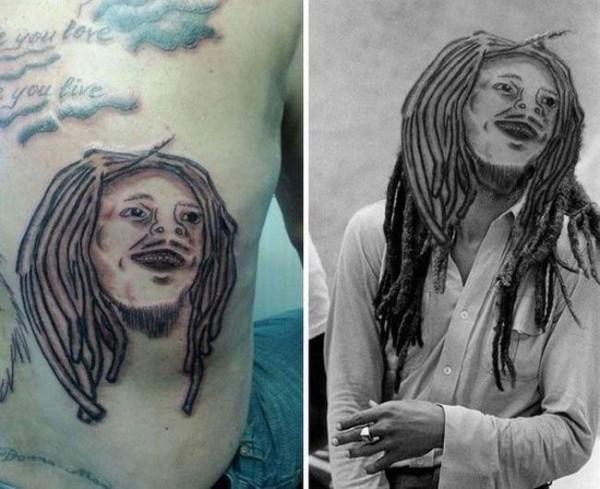 Неудачные татуировки с лицами людей и головами животных ...