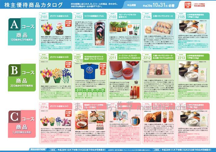 平成28年 サカタのタネ・株主優待商品カタログ