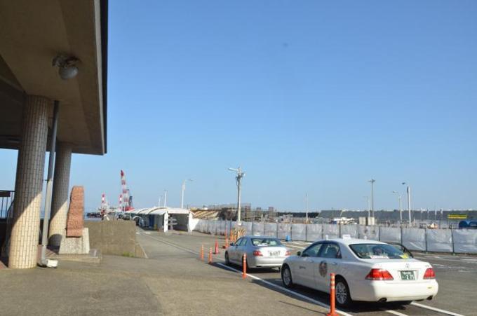 大島 岡田港 工事中でした