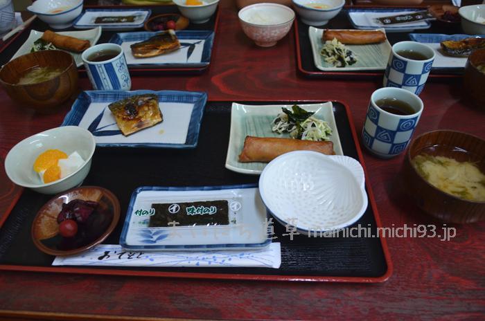 菊水旅館の朝食