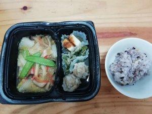 ナッシュ,八宝菜,五穀米