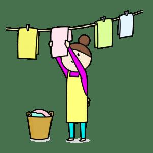 花粉症,洗濯物