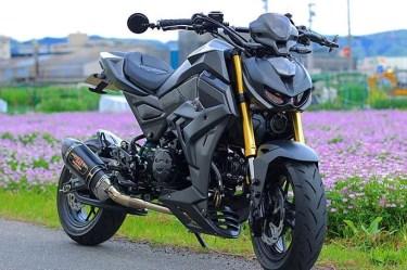 ホンダ125cc「グロム」のカスタムバイクやおすすめカスタムパーツを紹介!