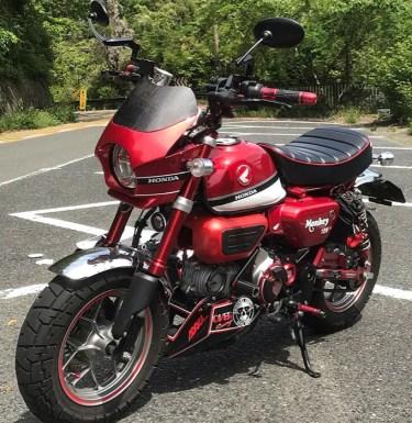 ホンダのモンキー125のカスタムバイクやおすすめカスタムパーツを紹介!