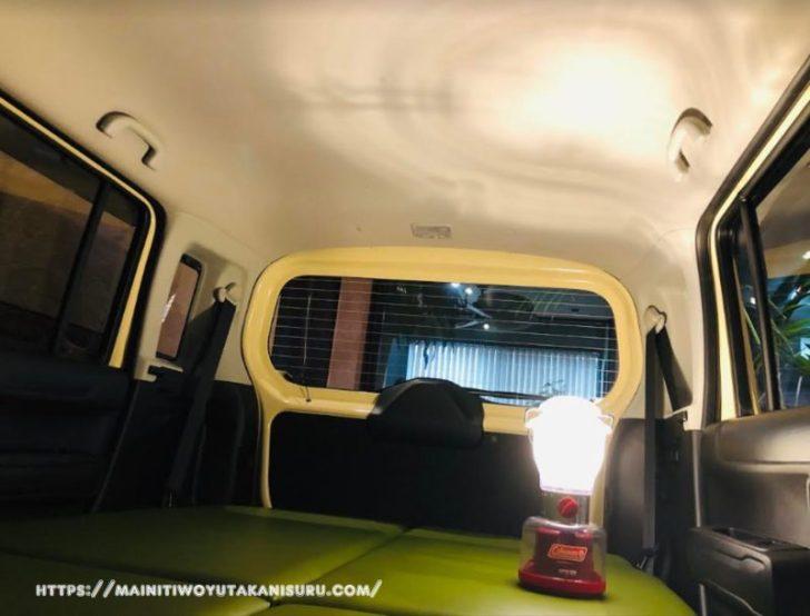 新型ハスラー(MR52S)のベッドキットとスキマ収納の活用について