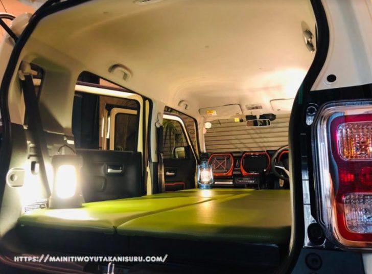新型ハスラー(MR52S)で模擬車中泊その①