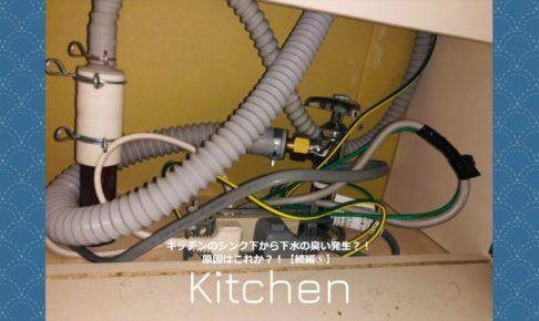 キッチンのシンク下から下水の臭い発生?!原因はこれか?!【続編⑤】