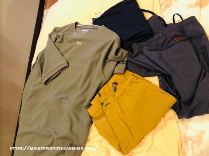【キャンプ初心者夫婦のキャンプギア購入記㉔】夏に向けて速乾性吸湿性の高い洋服など