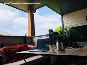 【入居後2年1ヵ月WEB内覧会】インナーバルコニーのワーケーションスタイル