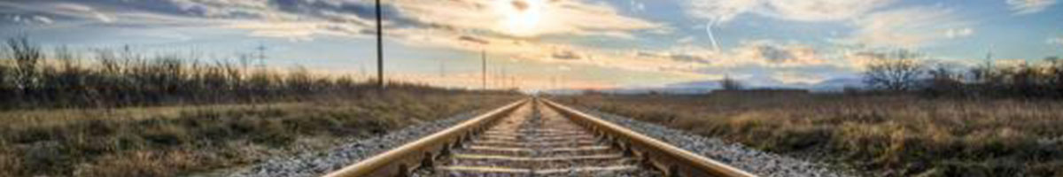 Image of train tracks heading into a new horizon. Couples counseling in Chester County, PA 19301