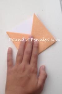 paper origami monster bookmark