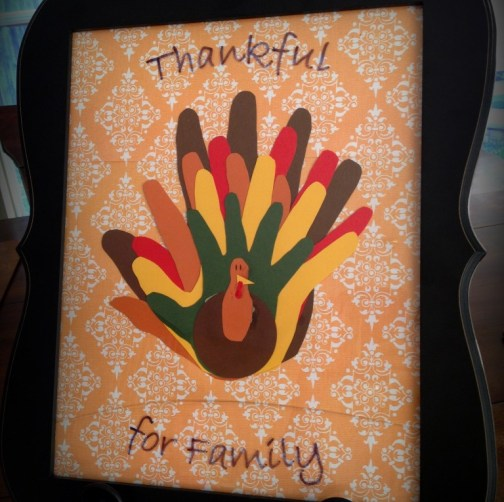 family hand turkey craft