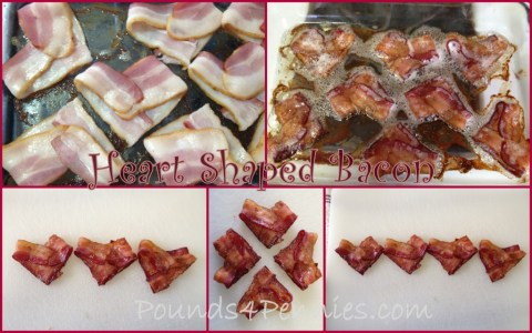 Heart Shaped Bacon recipes