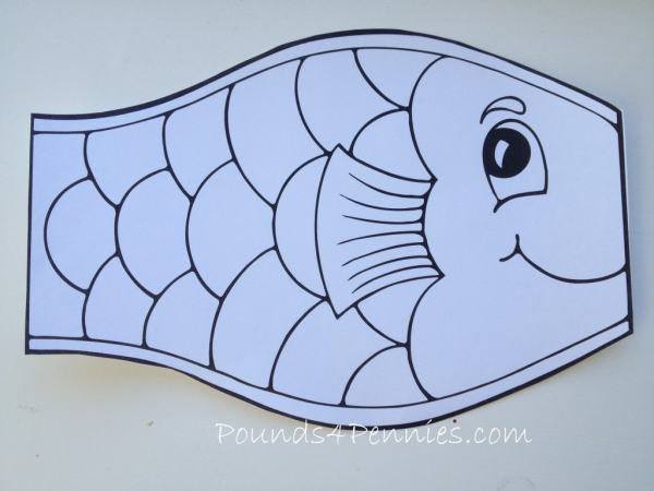 Fish kite Template