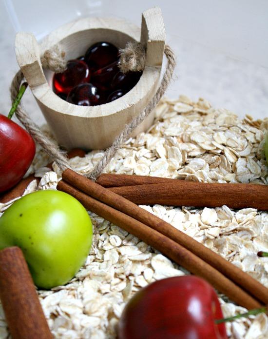 Apple Cinnamon Sensory Bin