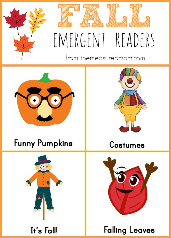 Fall Emergent Readers the measured mom Free Fall Emergent Readers