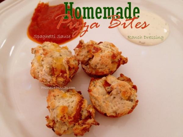 Homemade Pizza Bites Using Biscuit Mix - Super quick snack idea