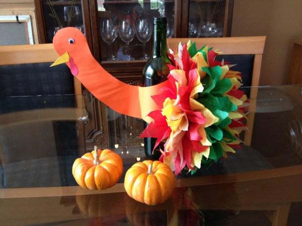Turkey Craft centerpiece
