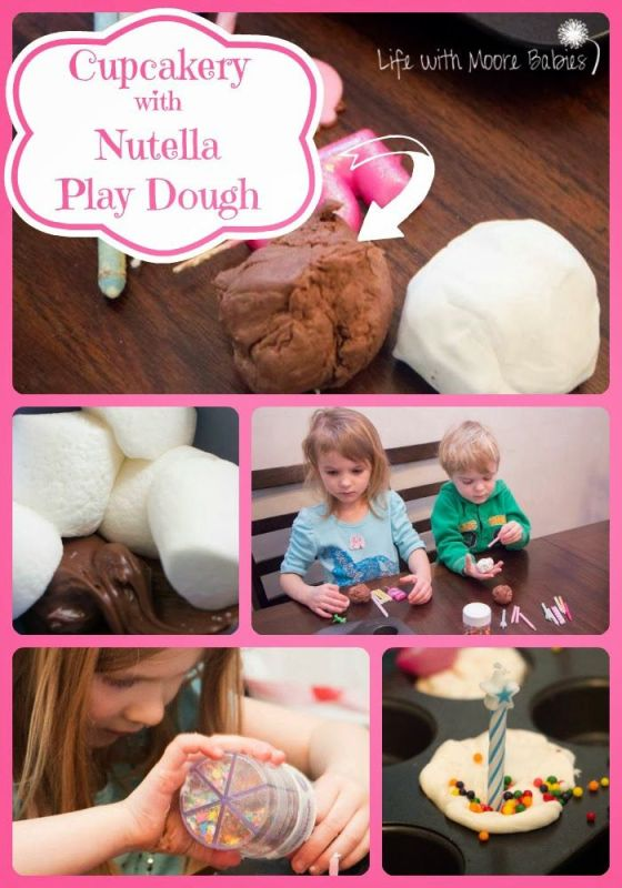 How to Make Play Dough Cupcakery with Nutella Play Dough