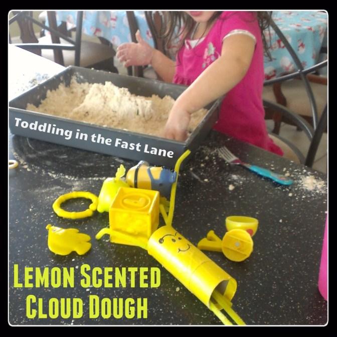 Homemade Cloud Dough Recipe - Lemon Scented Cloud Dough