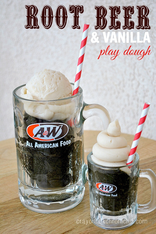 Root Beer Vanilla Float Scented Homemade Play Dough Recipe