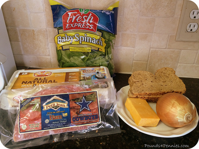 Ingredients for Green Eggs and Ham