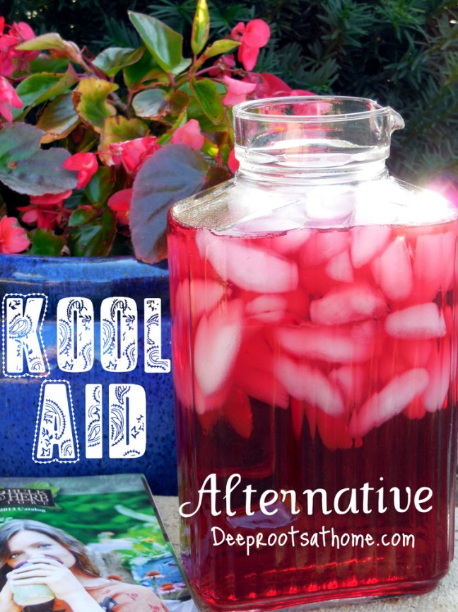 'Better Than Kool-Aid' Recipe, alternative to sugar,  kid approved, children love it, whole leaf stevia, peppermint tea, hibiscus tea, red color, natural, sugar-free, red dye