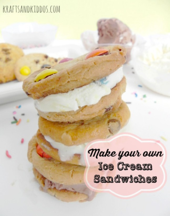 Easy to make ice cream sandwiches