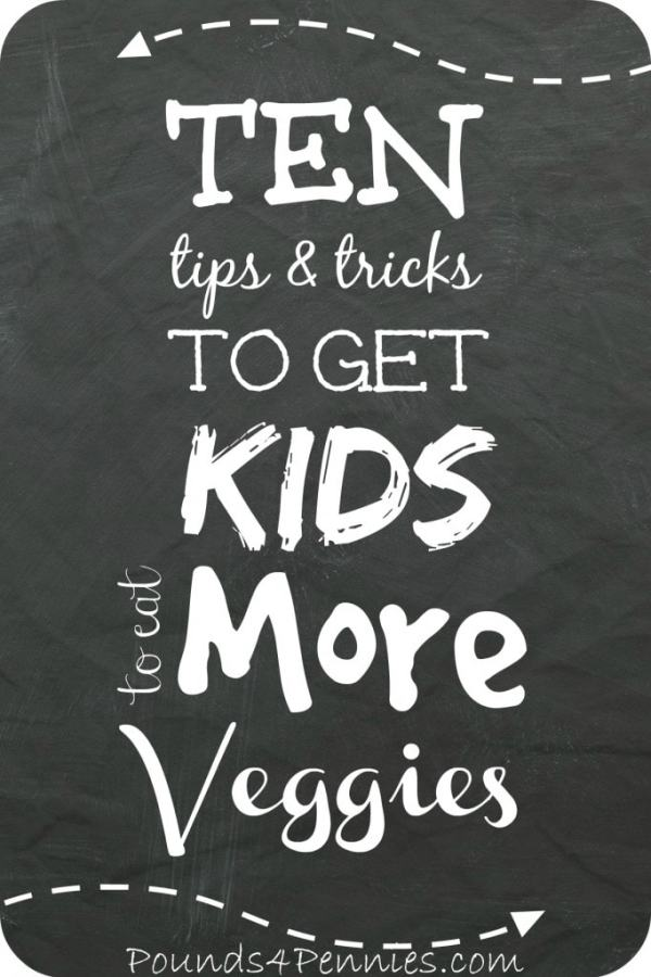 10 tricks to get kids to eat more vegetables