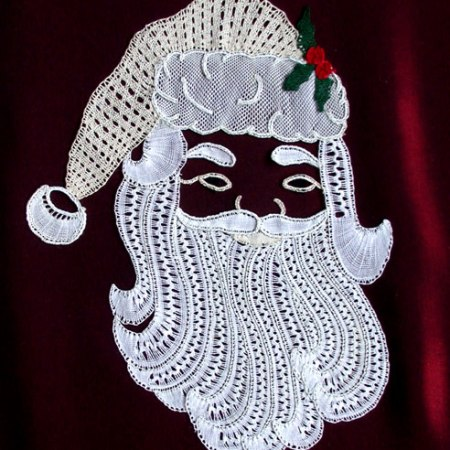Father Christmas bobbin lace pattern