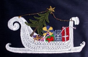 Christmas Sleigh - Lace Making Pattern